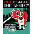 poster Beagle dog vector image