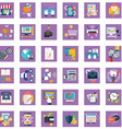 collection of colorful flat business and finance vector image