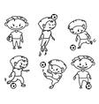 footballer soccer player vector image vector image