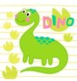 Green dinosaur  Dinosa vector image
