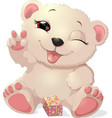 beautiful white bear vector image