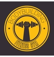 bodybuilding fitness gym icon vector image