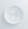 circle flat icon with a shadow basket garbage vector image