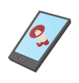 Computer tablet icon with megaphone on screen vector image