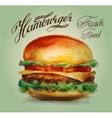 hamburger burger logo design template vector image