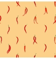 Red hot chili peppers pattern vector image