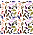 shoes seamless background vector image