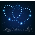 Two love heart from beautiful bright stars on the vector image