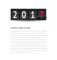 New Year page concept Flip clock changing to 2017 vector image