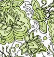 Lace pattern green vector image