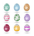 happy easter eggs icons colored paschal vector image
