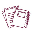 silhouette rings notebook tool with loose paper vector image