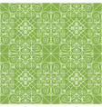 vintage ornament on greenery seamless pattern vector image