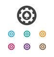 Of casino symbol on poker chip vector image
