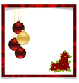 christmas frame red 01 vector image vector image