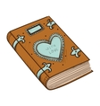 Book with decorative heart vector image vector image