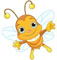 Cute Bee flying vector image vector image