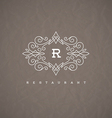 Monogram logo with flourishes calligraphic frame vector image vector image