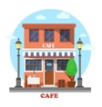 Architecture of cafe street exterior view vector image