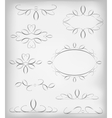 Black and white set a lot of design vector image