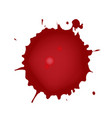 realistic blood splatters red ink splatters vector image