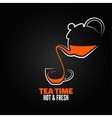 tea cup design menu backgraund vector image