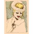underground comix Sad Bride vector image