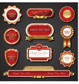 Vintage red gold frame banners vector image