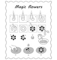 will blossom in black and white vector image