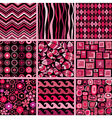 Set of stylish seamless patterns vector image