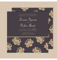 wedding invitation with floral background vector image vector image