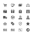 E-commerce flat icons vector image