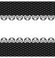 white lace on black background vector image