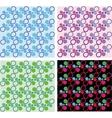 four colorful shape templates vector image