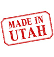 Utah - made in red vintage isolated label vector image