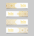 Set of banners with traditional ornament vector image vector image