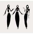 East women in veiled vector image