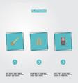 flat icons audio box musical instrument banjo vector image