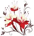 flower fuchsia decorative composition vector image