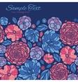 Mosaic Flowers Horizontal Frame Seamless vector image