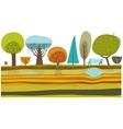 Park trees set vector image