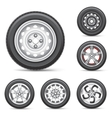 set of tires vector image