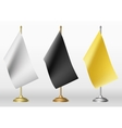 Table flags in three different colour vector image
