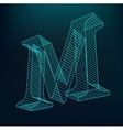 The letter M Polygonal letter Low poly model vector image