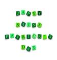 Words Happy Saint Patricks Day vector image