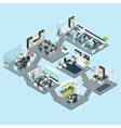 Office Isometric Different Floors vector image vector image