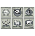 Hunting Adventure Posters Set vector image vector image