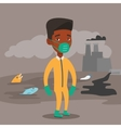 Man in radiation protective suit vector image