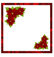 christmas frame red 02 vector image vector image