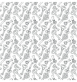 Seamless pattern with outline vintage keys vector image